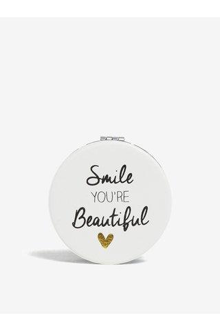 Krémové kompaktní zrcátko s potiskem CGB Smile