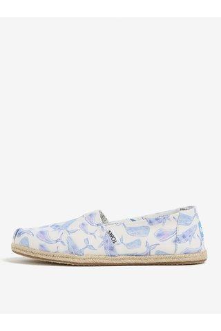 Espadrile bleu cu print balene pentru femei - TOMS