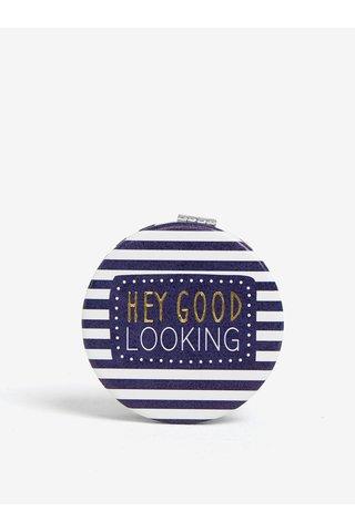 Oglinda compacta albastra de buzunar cu lupa - CGB Good Looking