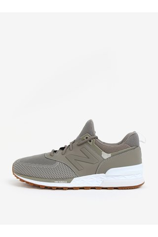 Pantofi sport verzi cu insertii de plasa pentru barbati - New Balance MS574