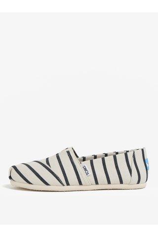 Espadrile alb prafuit & negru cu model  - TOMS