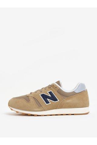 Pantofi sport bej din piele intoarsa cu insertii de plasa pentru barbati - New Balance ML373