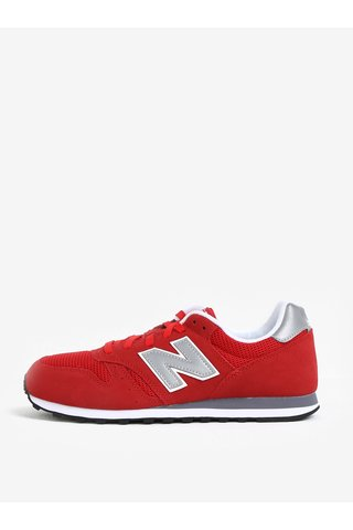 Pantofi sport rosii din piele intoarsa cu detalii din plasa pentru barbati - New Balance ML373