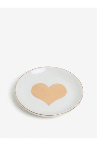 Farfurie alba pentru bijuterii - CGB Heart