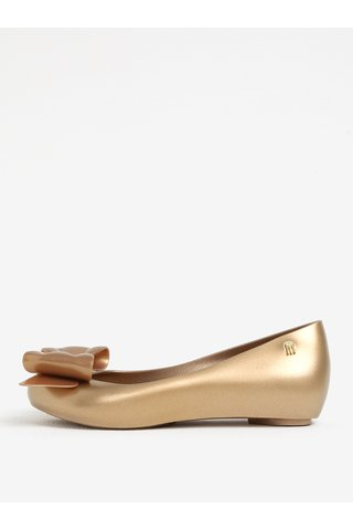 Balerini aurii parfumati cu funda si decupaj - Melissa Ultragirl Sweet
