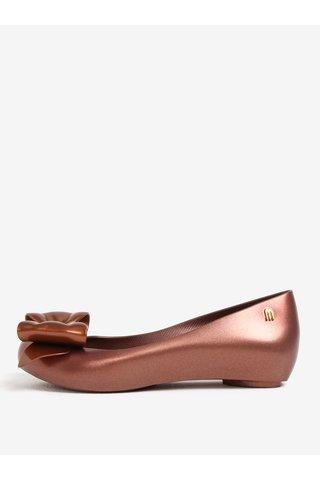 Balerini bronz parfumati cu funda si decupaj -  Melissa Ultragirl Sweet