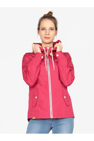 Jacheta roz cu dungi si gluga Ragwear Monade Stripes