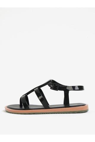 Sandale negre impermeabile Melissa Caribe Verao
