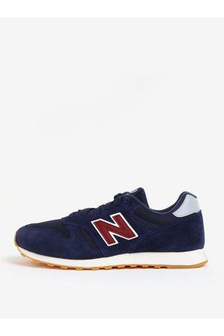 Pantofi sport bleumarin cu detalii din piele intoarsa pentru barbati- New Balance ML373