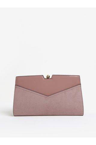 Geanta plic roz pal cu rama metalica -  Dorothy Perkins