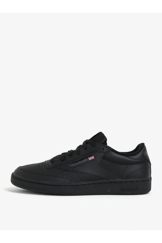 Pantofi sport negri unisex din piele naturala - Reebok Club C 85