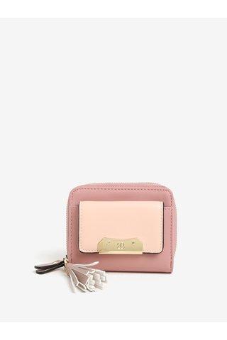 Portofel mic roz cu ciucure decorativ - Bessie London