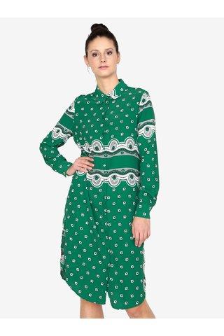 Rochie camasa verde cu print si nasturi MISSGUIDED