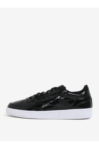 Pantofi sport negri din piele lacuita pentru femei Reebok Club C 85