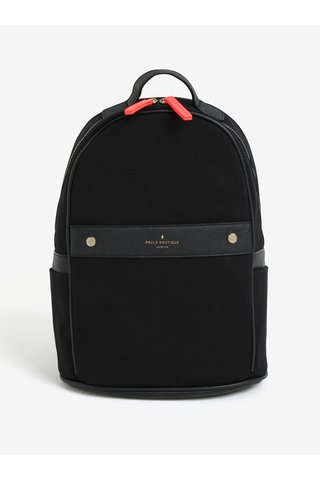 Rucsac negru cu detalii din piele sintetica - Paul´s Boutique Rosa