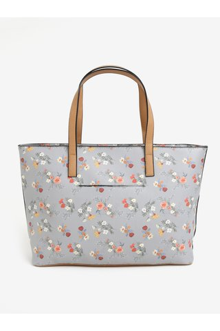 Geanta shopper gri cu print floral Bessie London