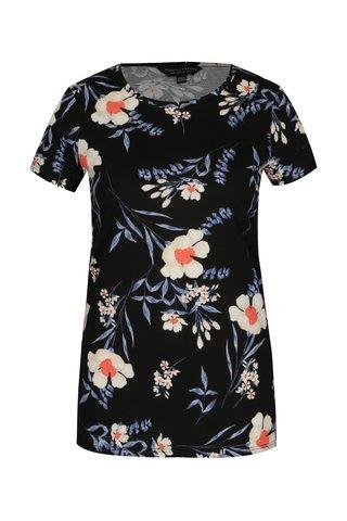 Tricou negru cu print floral Dorothy Perkins
