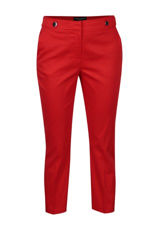 Pantaloni rosii cu nasturi decorativi - Dorothy Perkins