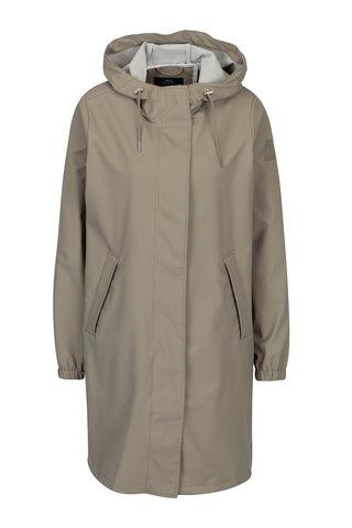 Béžový dámský voděodolný lehký kabát Makia