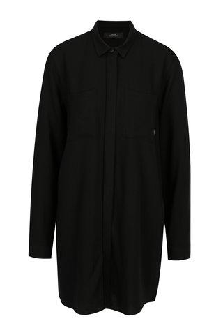 Černé dámské košilové šaty Makia