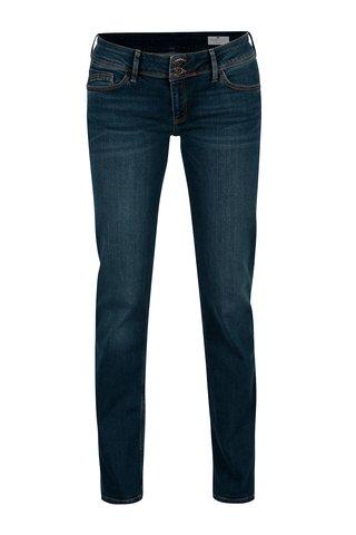 Blugi albastri slim fit cu talie joasa pentru femei - Cross Jeans