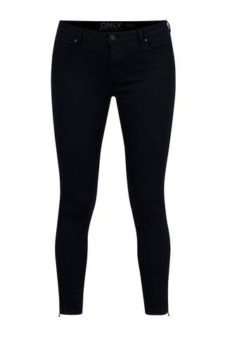 Pantaloni skinny bleumarin cu talie clasica - ONLY Serena