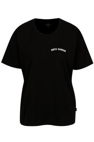 Černé dámské oversize tričko s potiskem Makia