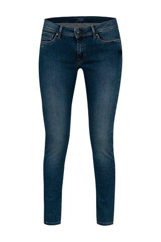 Blugi super skinny albastri cu aspect prespalat pentru femei - Pepe Jeans Lola