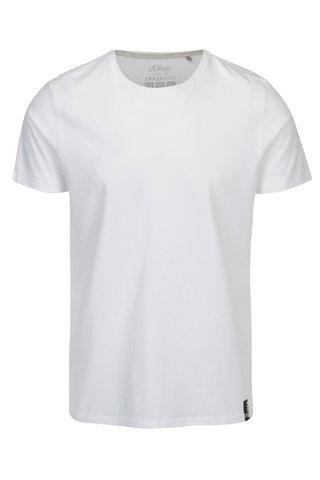 Tricou alb regular fit pentru barbati s.Oliver