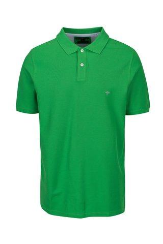 Tricou polo verde cu logo brodat -  Fynch-Hatton