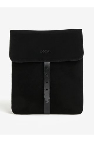 Černý semišový batoh KOZAK