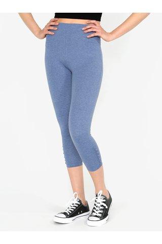 Leggings 3/4 albastri cu nasturi decorativi - M&Co