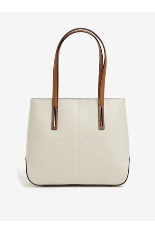Krémová dámská kožená kabelka KARA