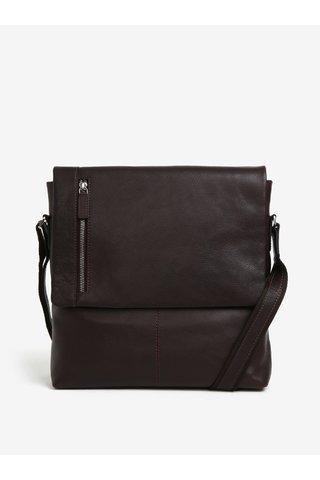 Tmavě hnědá pánská kožená taška KARA