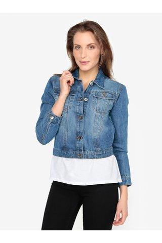 Jacheta din denim albastra cu buzunare - Miss Selfridge