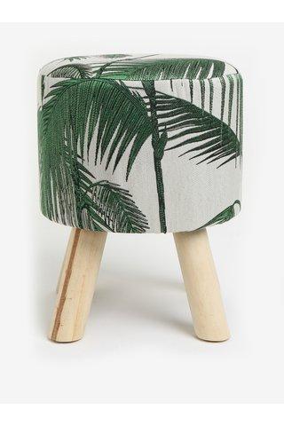 Scaun mic verde & alb cu perna moale - Kaemingk