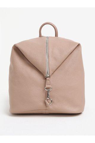 Starorůžový dámský kožený batoh KARA
