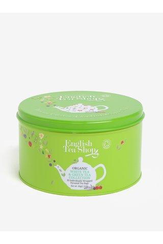 Cutie metalica verde cu ceai verde si alb -  English Tea Shop