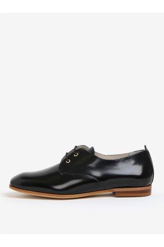 Pantofi negri din piele cu aspect lucios OJJU