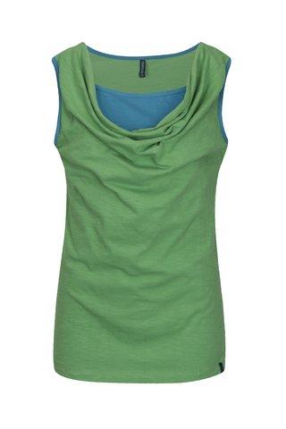 Top verde cu decolteu drapat Tranquillo Rochea
