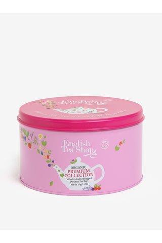 Cutie metalica roz cu 30 de plicuri de ceai organic - English Tea Shop