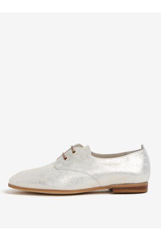 Pantofi aurii din piele intoarsa OJJU