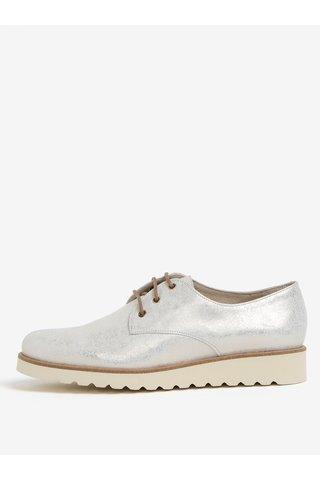 Pantofi aurii din piele naturala cu platforma - OJJU