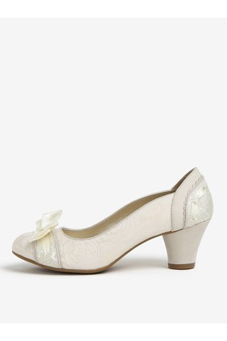 Pantofi alb prafuit cu model si funda - Ruby Shoo Hayley