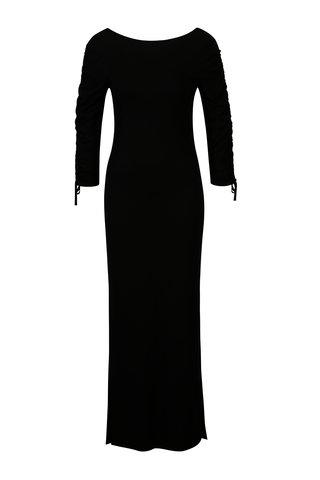 Rochie maxi neagra cu siret pe maneci Dorothy Perkins