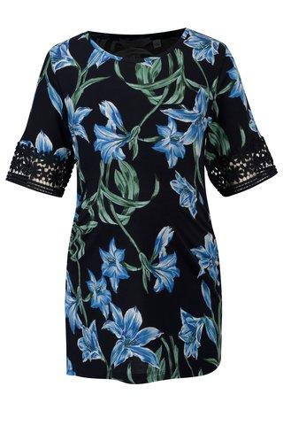 Bluza bleumarin cu print floral si decolteu rotund pentru femei insarcinate - Dorothy Perkins Maternity