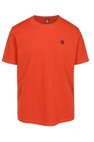 Tricou portocaliu cu logo brodat pentru barbati - Sergio Tacchini Daiocco