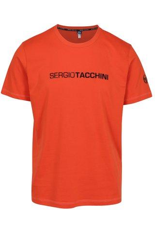 Tricou portocaliu cu print pentru barbati - Sergio Tacchini Robin