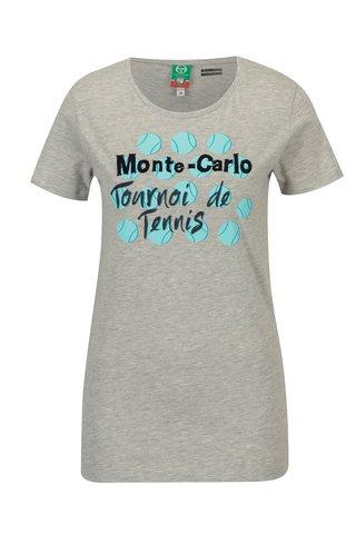 Tricou gri cu print pentru femei - Sergio Tacchini Ondina