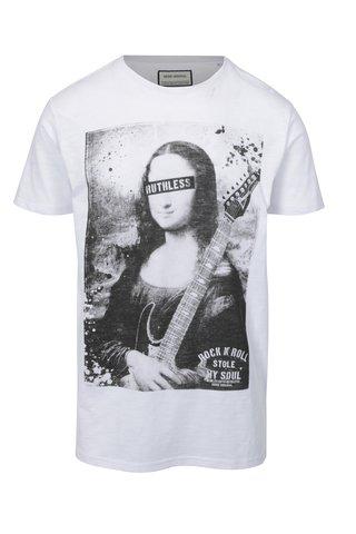 Tricou alb cu print - Shine Original Rebel